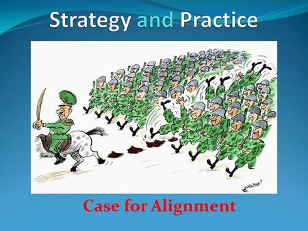 Case for Alignment. Should every one have a strategy? Vision Goals Constraints Time Money Competing forces You are not alone.