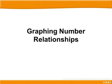 Graphing Number Relationships