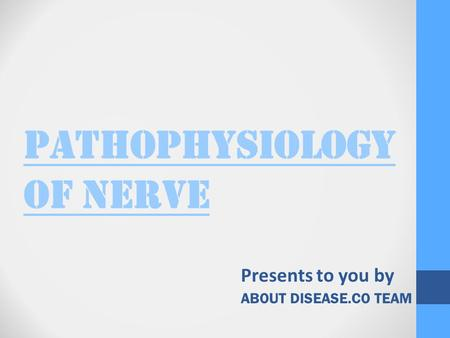PATHOPHYSIOLOGY OF NERVE Presents to you by ABOUT DISEASE.CO TEAM.