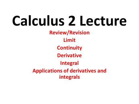 relationship between limits derivatives and integrals