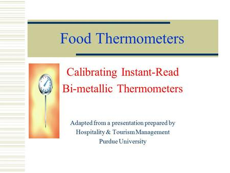 Food Thermometers Calibrating Instant-Read Bi-metallic Thermometers