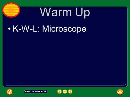Warm Up K-W-L: Microscope.