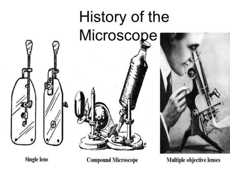 History of the Microscope. A. Introduction 1. A microscope is an optical instrument that uses a lens or a combination of lenses to magnify and resolve.