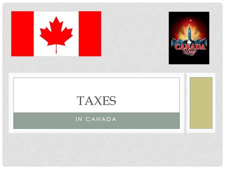IN CANADA TAXES. CANADA REVENUE AGENCY (CRA) CRA administers: tax laws for the Government of Canada and for most provinces and territories various social.