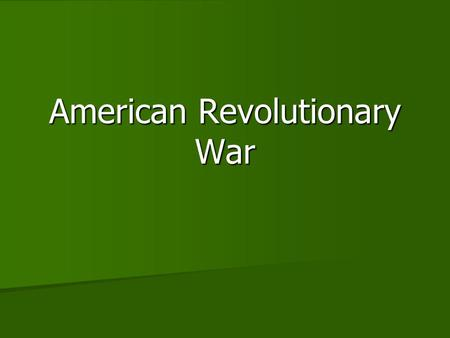 Compare american revolution and patrick henry