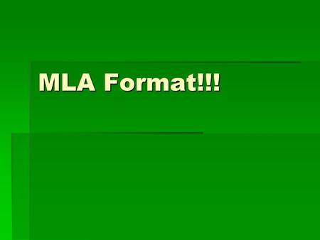 MLA Format!!!. What's This For???  Plagiarism is a serious offense in the educational world.  In high school, you will either lose significant marks,