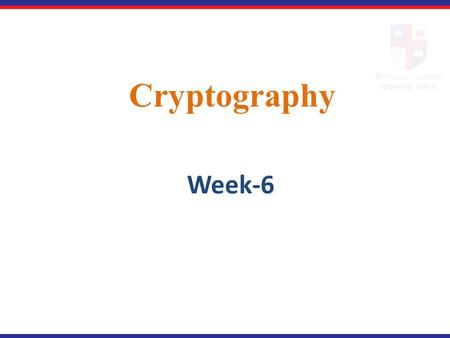 Cryptography Week-6.