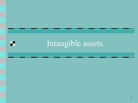 1 Intangible assets. 2 Meaning of Intangible assets Intangible assets are assets which have no physical existence. They are long-lived non-material rights.