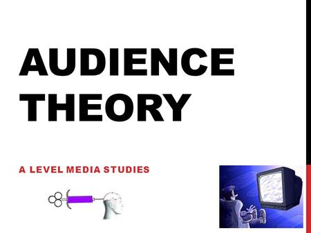 Audience Theory A Level Media Studies.