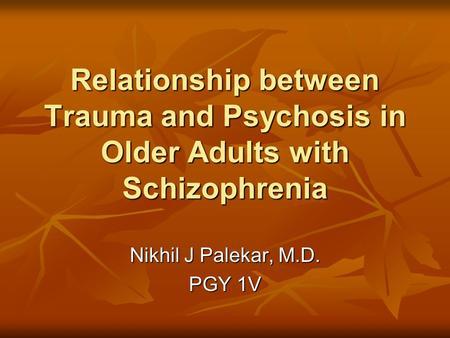 relationship between schizophrenia and dissociation