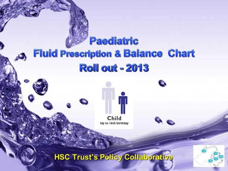 May 2013 – V0.7 Paediatric Fluid Prescription & Balance Chart HSC Trust's Policy Collaborative.