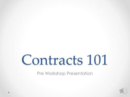 Contracts 101 Pre Workshop Presentation Introduction Property Management exists to provide guidance and leadership on o Construction projects o Preventive.