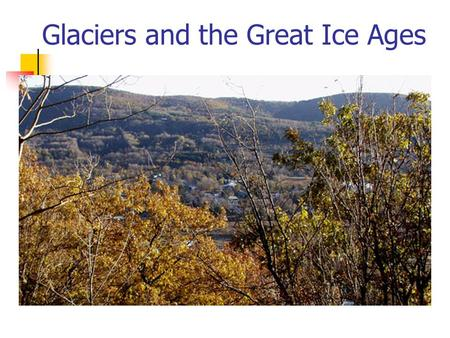 Glaciers and the Great Ice Ages. Pleistocene Epoch: the Great Ice Ages 2.0 Ma to 10,000 years ago Four (or more) distinct episodes expansion and melting.