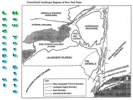 Atlantic Coastal Plain: Fire Island is a barrier island on the South Side of Long Island. Glacial Outwash and Deposition from Ocean Processes.