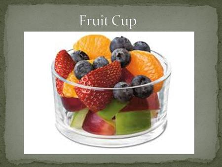 What we had to do for our part of the Silent Auction was we were in charge of creating a healthy fruit cup for 300 people.