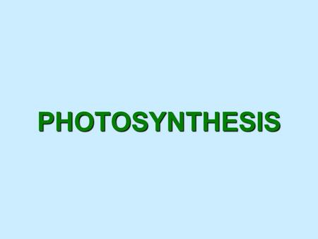 PHOTOSYNTHESIS. Photosynthesis What we know - Producers are organisms that produce their own food. Green plants are producers – they convert sunlight.