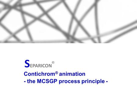 Contichrom ® animation - the MCSGP process principle -