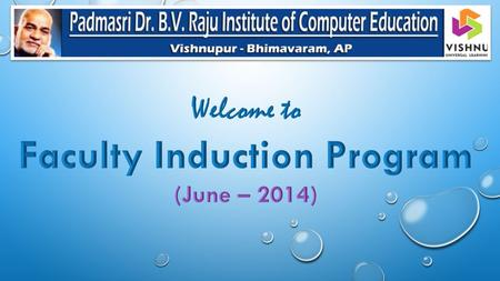 Faculty Induction Program