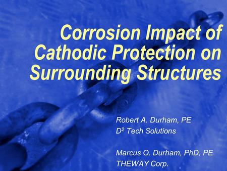 Corrosion Impact of Cathodic Protection on Surrounding Structures