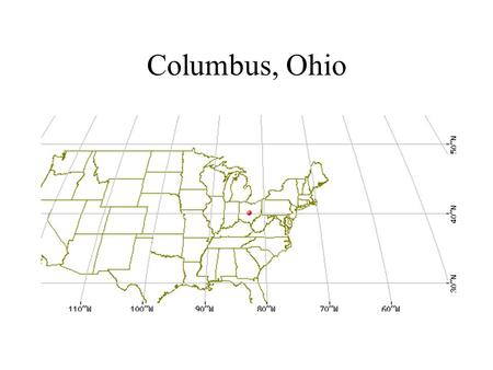 Columbus, Ohio. Miscellaneous Demographics Population: 1.6 M State capital (population of Ohio: 11.5 M) Major employers, corporate HQ's, and industry: