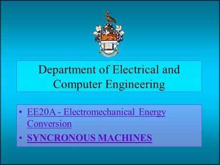 Department of Electrical and Computer Engineering
