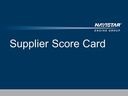 4/20/2017 Supplier Score Card.