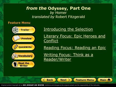 Homer by robert free by fitzgerald download translated the odyssey
