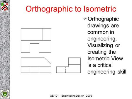 Orthographic to Isometric