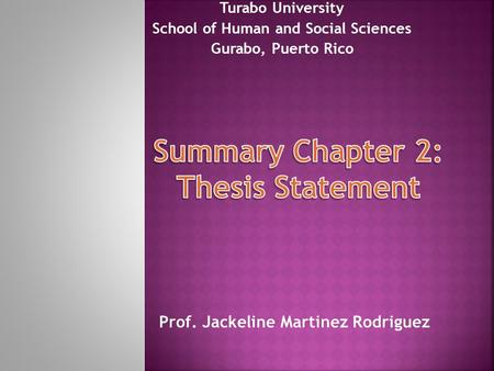 social science thesis statement