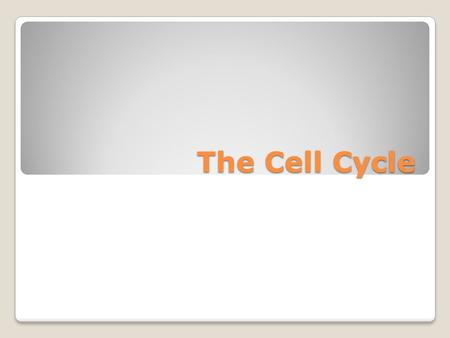 The Cell Cycle. What is the molecule that carries chemical energy throughout the cell? ATP.