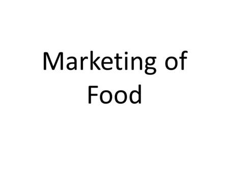 Marketing of Food. Food Rules #11 – Avoid foods you see advertised on television.