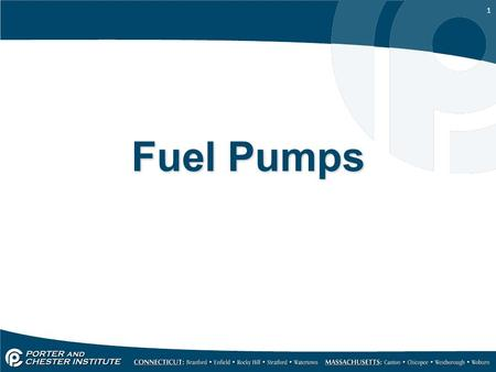1 Fuel Pumps. 2 Pumps 1.All oil burners for residential heating have pumps A. They are connected to a motor through a coupling 2.Description A. An oil.