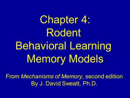 From Mechanisms of Memory, second edition