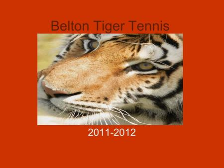 Belton Tiger Tennis 2011-2012 Our Vision To mold and develop quality citizens and active participants in society To develop young people into men and.