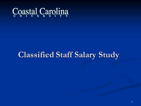 1 Classified Staff Salary Study. 2 Overview Provide an overview of study Provide an overview of study Review study methodology Review study methodology.