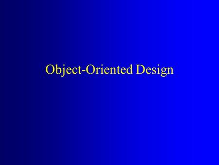 Object-Oriented Design. From Analysis to Design Analysis Artifacts –Essential use cases What are the problem domain processes? –Conceptual Model What.