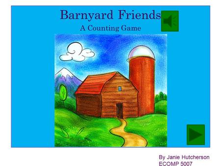 Barnyard Friends A Counting Game By Janie Hutcherson ECOMP 5007.