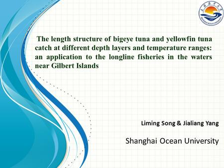 The length structure of bigeye tuna and yellowfin tuna catch at different depth layers and temperature ranges: an application to the longline fisheries.