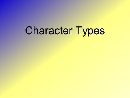Character Types.