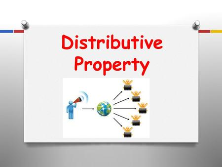 Distributive Property O To distribute and get rid of the parenthesis, simply multiply the number on the outside by the terms on the inside of the parenthesis.