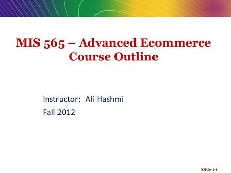 Advanced business writing course outline