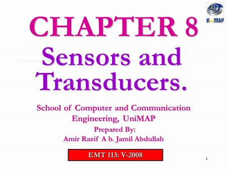CHAPTER 8 Sensors and Transducers.