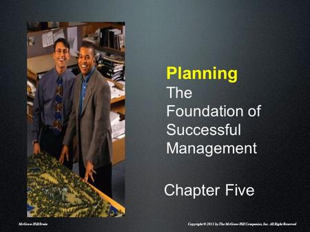 Planning The Foundation of Successful Management