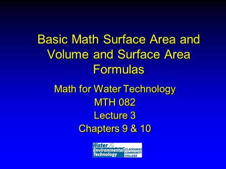 Basic Math Surface Area and Volume and Surface Area Formulas