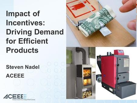 Impact of Incentives: Driving Demand for Efficient Products Steven Nadel ACEEE.