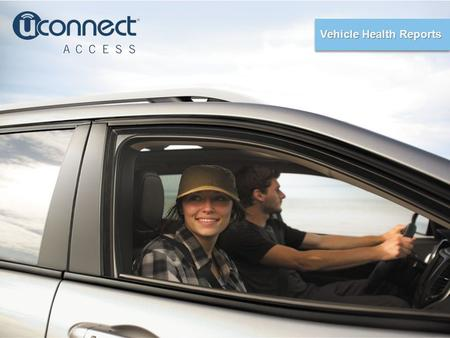Vehicle Health Reports. Adding peace of mind to your drive.