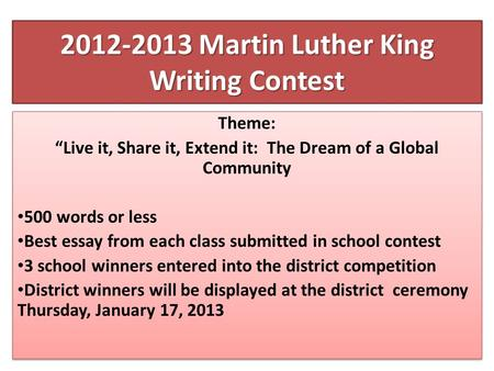 Martin luther kings essay