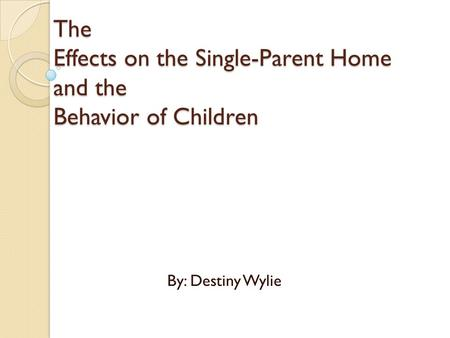 The Effects of Parent Influence in Studies