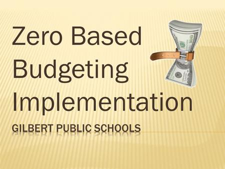 Zero Based Budgeting Implementation. GPS Zero Based Budgeting Visual Arts Performing Arts Physical Education Special Education Gifted Athletics Electives.
