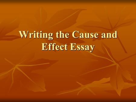What type of essay would you choose for the following topics ?